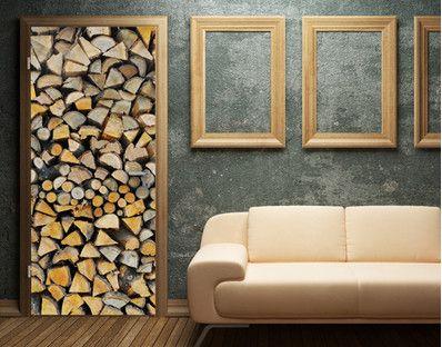 fototapete holz brennholz kamin firewood 400x280 cm. Black Bedroom Furniture Sets. Home Design Ideas