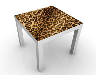 Design Tisch Jaguar Skin 55x45x55cm Beistelltisch, Couchtisch, Motiv-Tisch, Wohnzimmer, Leoparden, Fell, Tier, Gepard, Muster
