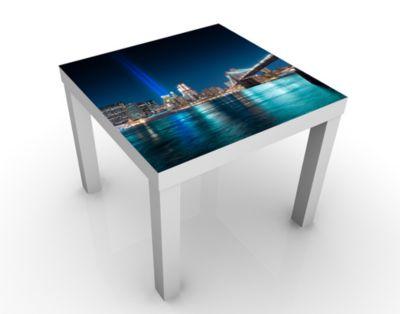 Design Tisch Lichter des World Trade Centers 55x45x55cm Beistelltisch, Couchtisch, Motiv-Tisch, Wohnzimmer, Tribute in Light, New York, USA, Manhattan