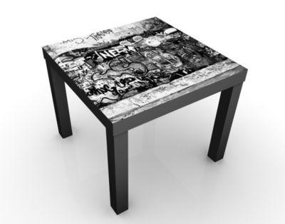 design tisch graffiti art 55x45x55cm beistelltisch couchtisch motiv tisch wohnzimmer sprayen. Black Bedroom Furniture Sets. Home Design Ideas