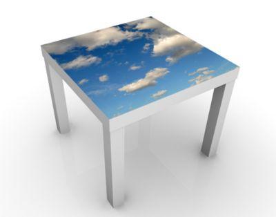 Design Tisch Blue Sky 55x45x55cm Beistelltisch, Couchtisch, Motiv-Tisch, Wohnzimmer, Himmel, Blau, Wolken, Fliegen, Luft Beistelltisch