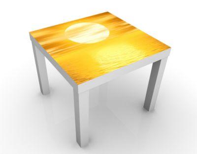 Design Tisch Summer Sun 55x45x55cm Beistelltisch, Couchtisch, Motiv-Tisch, Wohnzimmer, Himmel, Sonne, Meer, Ozean, Sonnenuntergang