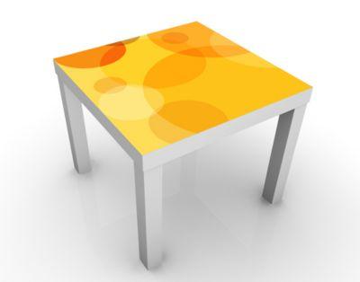 Design Tisch Caribbean Lounge 55x45x55cm Beistelltisch, Couchtisch, Motiv-Tisch, Wohnzimmer, Popart, Kreise, bunt, modern, 70er Jahre