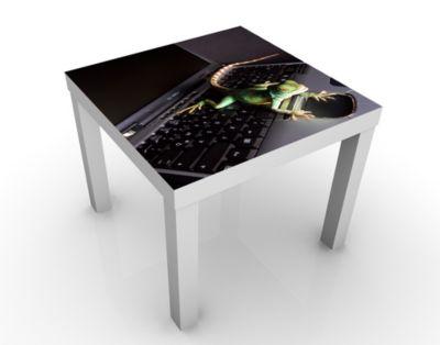 Design Tisch Stay! Leguan 55x45x55cm Beistelltisch, Couchtisch, Motiv-Tisch, Kinderzimmer, Leguan, Tiere, Echse, Reptilien, Eidechse