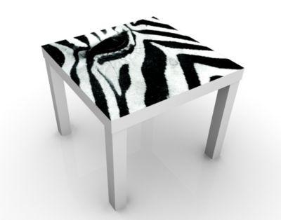 Design Tisch Zebra Crossing No.3 55x45x55cm Beistelltisch, Couchtisch, Motiv-Tisch, Kinderzimmer, Tiere, Zebras, Afrika, Pferde, Streifen