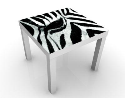Design Tisch Zebra Crossing No.2 55x45x55cm Beistelltisch, Couchtisch, Motiv-Tisch, Kinderzimmer, Tiere, Zebras, Afrika, Pferde, Streifen