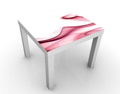 Design Tisch Red Flame 55x45x55cm Beistelltisch, Couchtisch, Motiv-Tisch, Wohnzimmer, Rauch, Qualm, Nebel, Brush, Verlauf