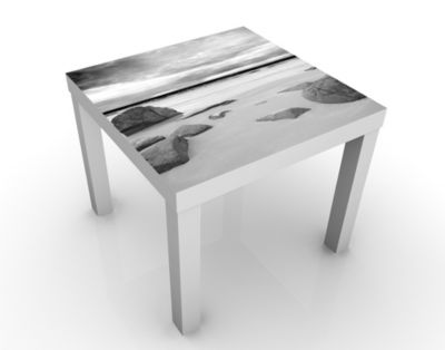 Design Tisch Rocky Coast 55x45x55cm Beistelltisch, Couchtisch, Motiv-Tisch, Wohnzimmer, Strand, Meer, Stein, Himmel, Ozean