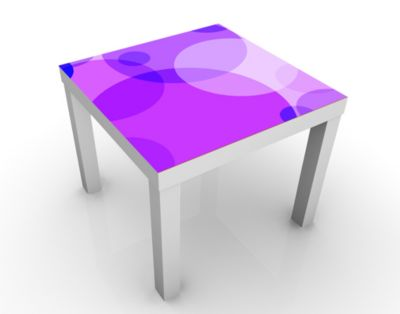 Design Tisch Sunset Lounge 55x45x55cm Beistelltisch, Couchtisch, Motiv-Tisch, Wohnzimmer, Kreise, Farben, Bunt, Modern, Abstrakt