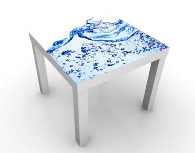 Design Tisch Sensational Fresh 55x45x55cm Beistelltisch, Couchtisch, Motiv-Tisch, Wohnzimmer, Wasser, Blau, Sprudel, Welle, Blasen