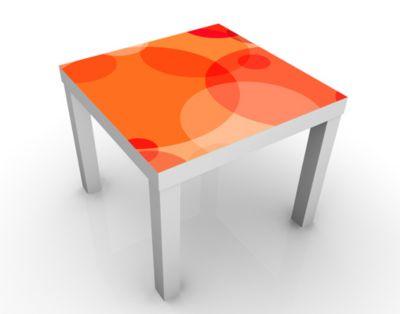 Design Tisch Havanna Lounge No.2 55x45x55cm Beistelltisch, Couchtisch, Motiv-Tisch, Wohnzimmer, Popart, Kreise, Bunt, Modern, Pop