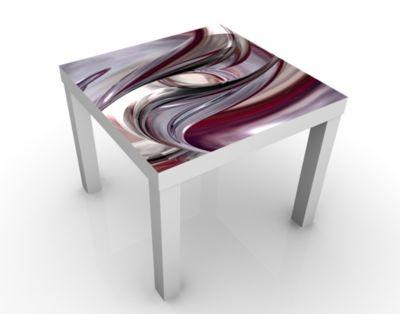 Design Tisch Illusionary 55x45x55cm Beistelltisch, Couchtisch, Motiv-Tisch, Wohnzimmer, 3D, Digital Kunst, Abstrakt, Fantasie, Wirbel