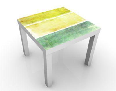 Design Tisch Colour Harmony Yellow 55x45x55cm Beistelltisch, Couchtisch, Motiv-Tisch, Kinderzimmer, Farben, Gelb, Beige, Harmonie, Entspannung