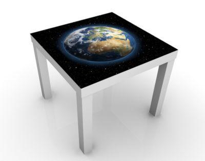 Design Tisch My Earth 55x45x55cm Beistelltisch, Couchtisch, Motiv-Tisch, Wohnzimmer, Erde, Weltall, Planet, Sterne, Universum