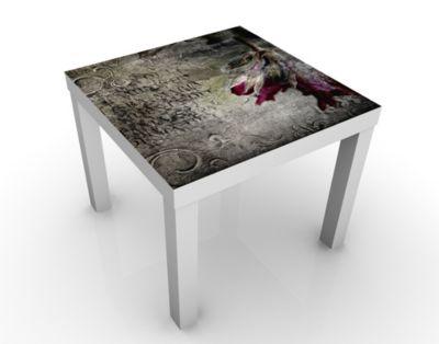 Design Tisch Mystic Flower 55x45x55cm Beistelltisch, Couchtisch, Motiv-Tisch, Wohnzimmer, Rosen, Esoterik, Vintage, Mystisch, Gothic