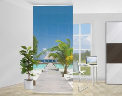 design raumteiler caribbean sunset karibik schiebe gardine. Black Bedroom Furniture Sets. Home Design Ideas