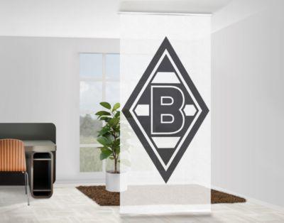 design raumteiler borussia m nchengladbach raute die fohlen schiebe gardine fl chen vorhang. Black Bedroom Furniture Sets. Home Design Ideas