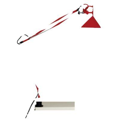 Brilliant Hobby Schreibtischklemmleuchte rot
