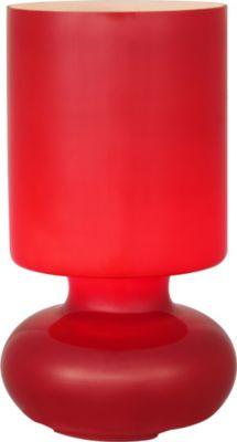 Einfarbige Tischleuchte Fuerte, rot