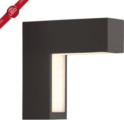 Brilliant  Ashton LED Außenwandleuchte schwarz IP54