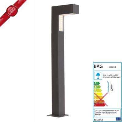 Brilliant  Ashton LED Außenstandleuchte schwarz IP54