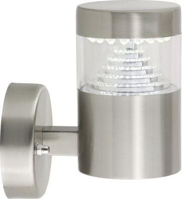 Brilliant  Avon LED Außenwandleuchte, stehend edelstahl IP44