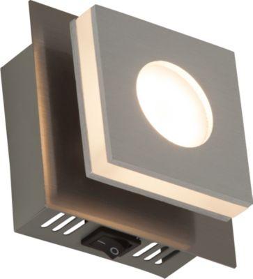 Brilliant Transit LED Wand  Und Deckenleuchte Mit Schalter Nickel/alu