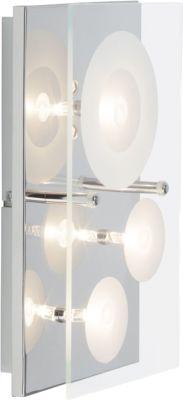 farbwechselnde LED Wand- und Deckenleuchte, 3-flammig mit Fernbedienung
