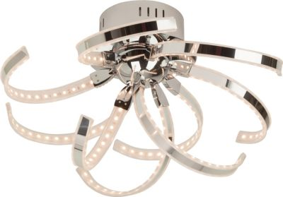 Yunan LED Deckenleuchte, 9-flammig chrom