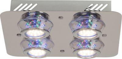 Kelly LED RGB Deckenleuchte, 4-flammig chrom mit Fernbedienung