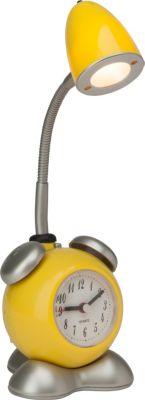 Pharrell LED Tischleuchte mit Wecker gelb