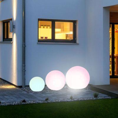 s.LUCE Globe+ 3er Set Kugelleuchten iLight LED &amp FB Ø 30 + 40 + 50 cm   Lampen > Tischleuchten > Kugelleuchten   s.LUCE