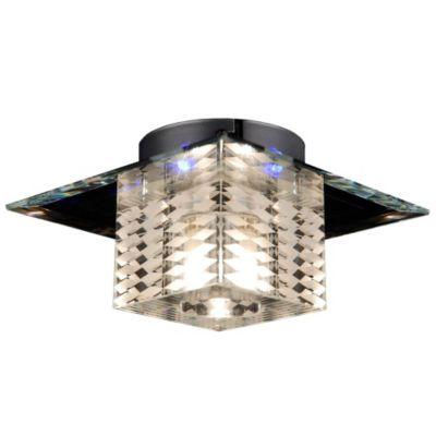 s`luce Deckenleuchte LED & Halogen KAROL Glas 18x18cm