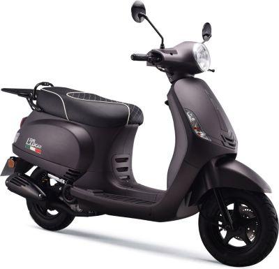 IVA Motorroller LUX Euro-4-Norm 25km/h mattgrau