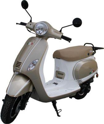 IVA Motorroller LUX 50 Champagner-Weiß