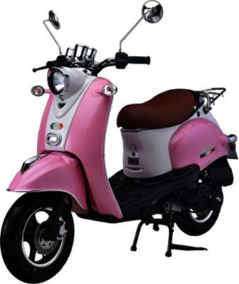 IVA Motorroller VENTI 50 Weiß-Rosa