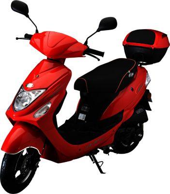 IVA Motorroller NEW JET 50 ccm inkl. Topcase, Rot