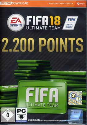 FIFA 18 2200 Ultimate Team Punkte (DLC Only) (PC)