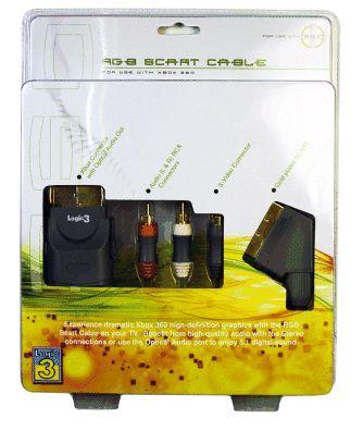 AV-RGB-Scart Kabel Logic 3 (Gold) (X360)