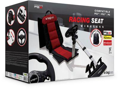 Lenkrad Bigben inklusive Sitz Racing Seat 3 in 1 (PS3 PS2 PC)