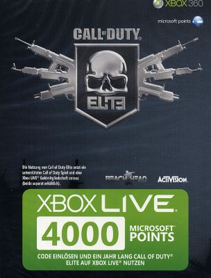 XBOX Live Points Card 4000 Punkte Call of Duty ...