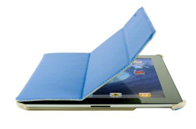 SchutzhÃ1/4lle Flip Cover and Stand Logic 3 Blau fÃ1/4r iPad3 (Ständer)