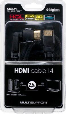 HDMI - Kabel Bigben 1.4 3D LX mit Rotationsstec...
