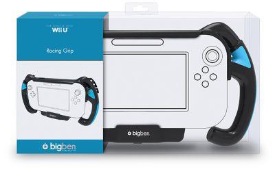 Lenkradaufnahme Bigben Schwarz für WiiU GamePad...