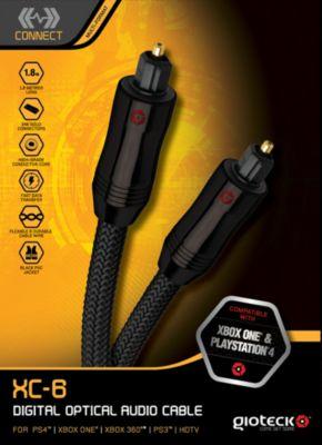 Gioteck optisches Audio-Kabel 1,8m (PS4 PS3 XON...