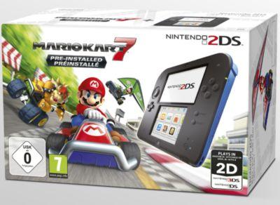 Nintendo 2DS schwarz inklusive Mario Kart 7 - L...