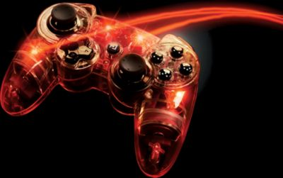 Afterglow Wireless Controller in Rot (PS3 PC)