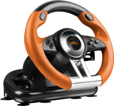 Plus O.Z. Racing Wheel schwarz-orange (PS3)