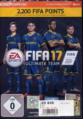 Fifa 17 2200 Ultimate Team Punkte (DLC Only) (PC)