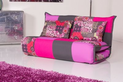 KAWOLA Sessel Relax BILLY 150 cm Stoff Patchwork